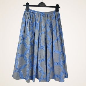 NEW Maison Chateau Rouge A-Line Pleated Skirt